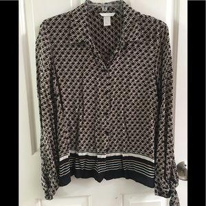 H&M button up blouse size 6
